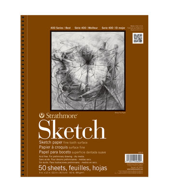 9 x 12 Foundation Series Wire Bound Drawing Paper Size