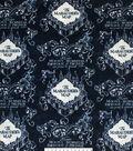Harry Potter Fleece Fabric 58\u0022-Marauders Map Blue