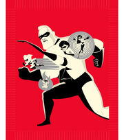 Disney Incredibles 2 No-Sew Fleece Throw 48''-Family, , hi-res