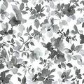 York Wallcoverings Wallpaper-Black Watercolor Floral
