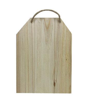 Unfinished Wood 7X5 Tag Wood Cedar Look