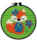 Learn-A-Craft Little Fox Felt Applique Kit-6\u0022 Round