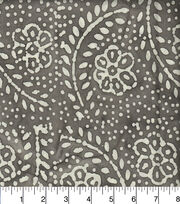 "Legacy Studio Indian Batiks Cotton Fabric 44""-Dotted Floral Gray, , hi-res"