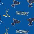 St. Louis Blues Fleece Fabric -Tossed Print