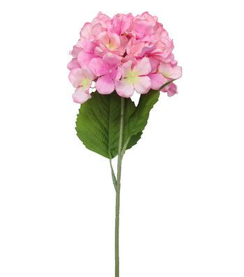 Fresh Picked Spring 26'' Hydrangea Stem-Dark Pink