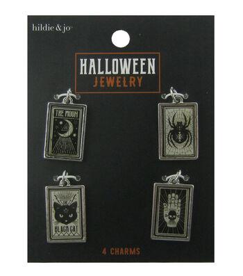 hildie & jo Halloween 4 pk Rectangular Charms