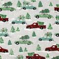 Super Snuggle Flannel Fabric-Multi Vehicle Christmas Tree