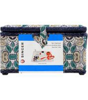 Singer Large Sewing Basket with Accessories-Flower Wave Print