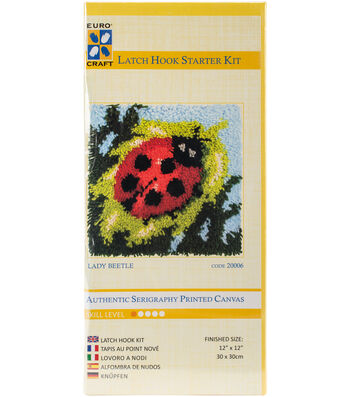 "Euro Craft Latch Hook Kit 12""X12""-Lady Beetle"