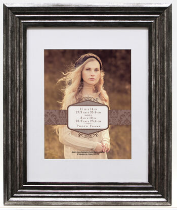 Wall Frame 11X14 Mat To 8X10-Pewter