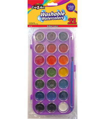 Cra-Z-Art Washable Watercolors with Artist Brush
