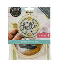 Cross Stitch Style Hoop Ornament Kit-Hello