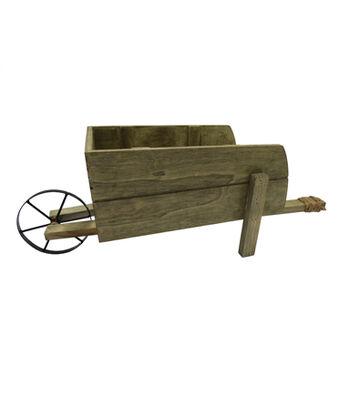 Simply Autumn Wooden Wheelbarrow