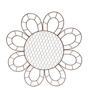 Blooming Autumn 16'' Sunflower Frame-Copper