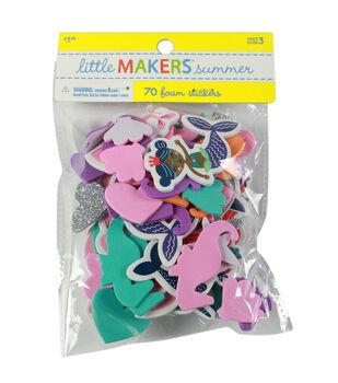 Little Makers Summer 70 pk Foam Stickers-Under the Sea