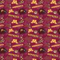 University of Minnesota Gophers Cotton Fabric-Tone on Tone