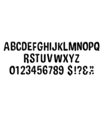 Eureka Deco Letters-Color My World Solid Black