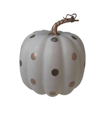 Simply Autumn Medium Pumpkin-Gold Dots