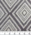 Luxe Fleece Fabric -Diamonds on Heathered Gray