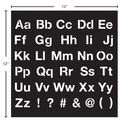 FolkArt 12X12\u0027\u0027 Adhesive Stencil-Sans Serif Alphabet