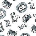 Nursery Cotton Fabric-Sweet Safari Tossed Animals