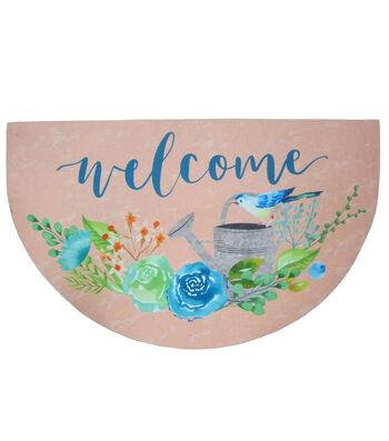 Hello Spring Gardening Rubber Door Mat-Welcome & Watering Can