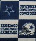 Dallas Cowboys Fleece Fabric -Block