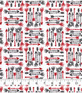 Snuggle Flannel Fabric-Red & Black Arrows