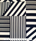 Endless Sea Rayon Spandex Fabric 57\u0027\u0027-Navy & White Striped Block