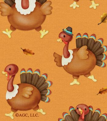 Harvest Cotton Fabric 42''-Turkey Dance