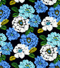 Robert Allen@Home Best Lightweight Decor Fabric Bouquet Ultramarine