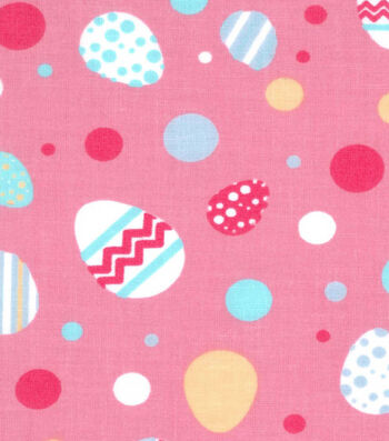 Easter Cotton Fabric -Easter Egg Bright Dot