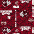 Mississippi State University Bulldogs Fleece Fabric -Digital Camo