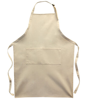 """Twill Large Adult Apron 24.75""""x35.25-Natural"""