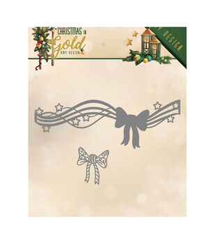 Find It Trading Amy Design Die-Bow, Christmas In Gold