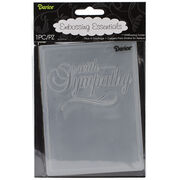 "Embossing Folder 4.25""X5.75"" With Sympathy, , hi-res"
