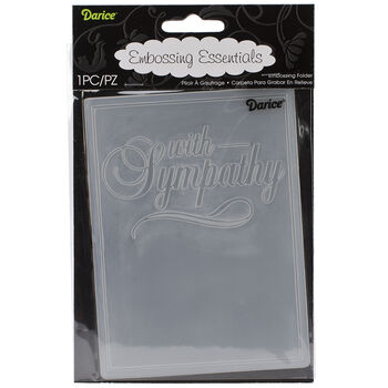 """Embossing Folder 4.25""""X5.75"""" With Sympathy"""