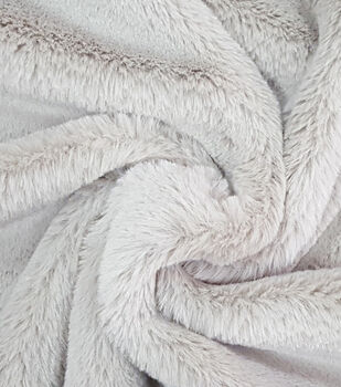 Fashion Faux Fur Fabric -Cheshire Taupe