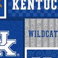 Univeristy of Kentucky Wildcats Fleece Fabric-College Patch