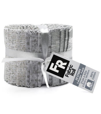 "Quilt Fabric Roll 3.5""-White Metallic"