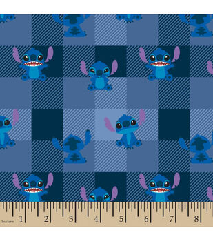 Disney Lilo & Stitch Flannel Fabric-Allover Plaid