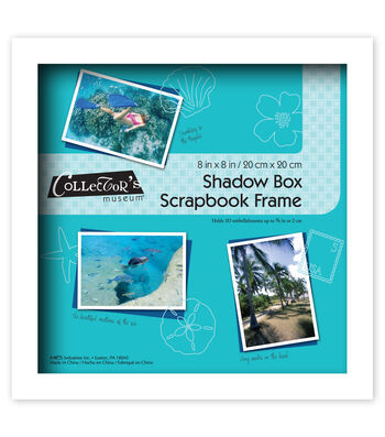 MCS Industries Collector's Museum Shadow Box Scrapbook Frame 8''x8''