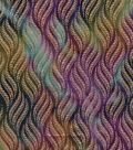 Indian Batiks Cotton Fabric -Rainbow Leaves