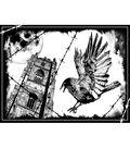 Crafty Individuals Unmounted Rubber Stamp 4.75\u0022X7\u0022 Pkg-The Crow