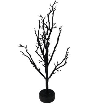 Maker's Halloween 34'' Spooky Ornament Tree Table Decor-Black