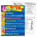 Getting Along Learning Chart 17\u0022x22\u0022 6pk