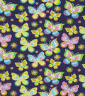 Snuggle Flannel Fabric -Bright Butterfly