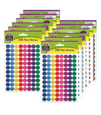 Teacher Created Resources Mini Sticker Set 528 Per Set, 2 Sets