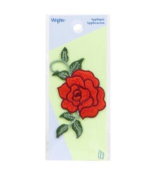 Wrights Iron-On Applique-Red Rose