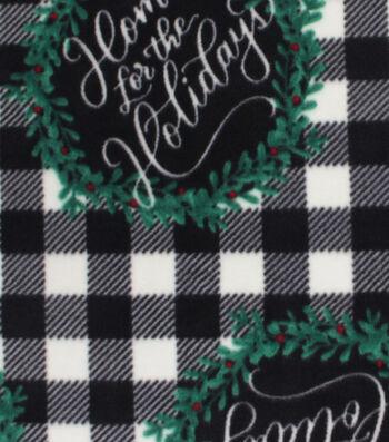 Christmas Anti-Pill Plush Fleece Fabric-Home for the Holidays
